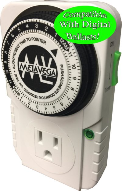 Single Socket Timer Compatible With Digital Ballasts